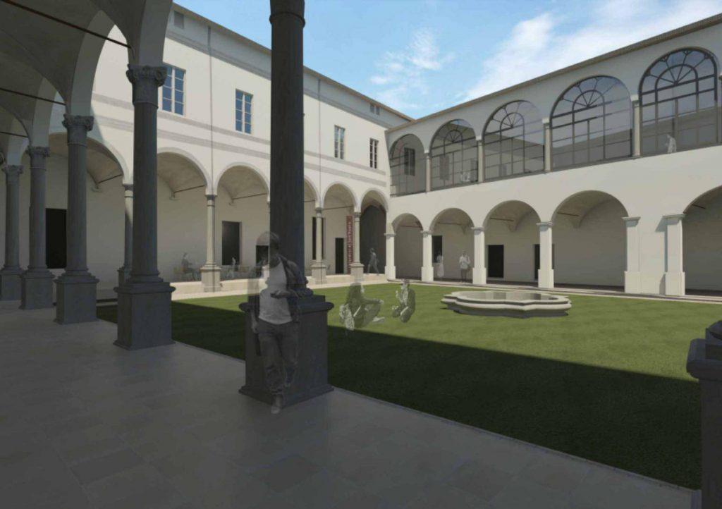 Chiostri del Correggio Parma Rendering