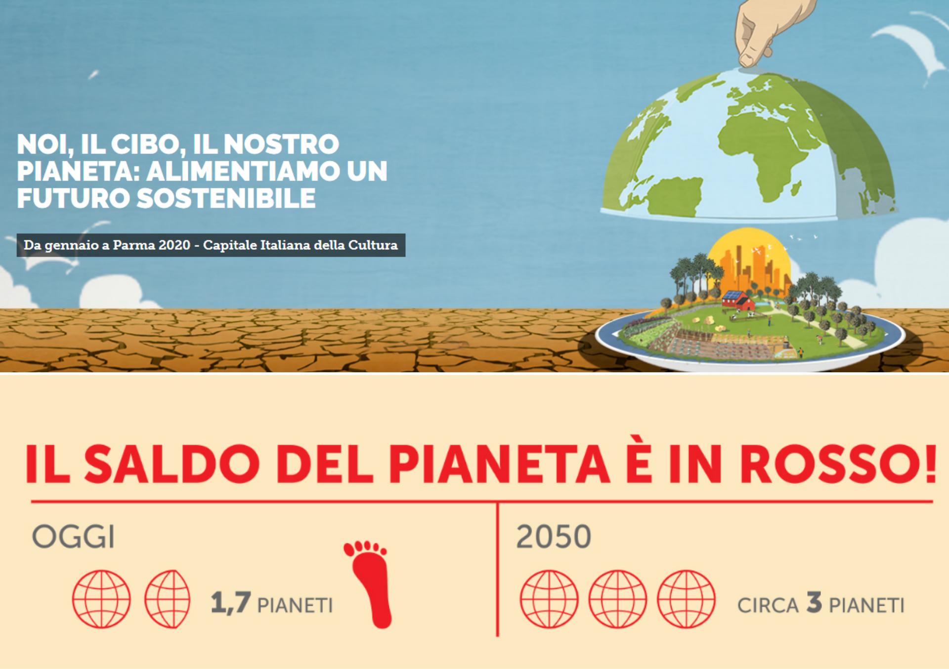 mostra esperenziale, noi, il cibo, il pianeta